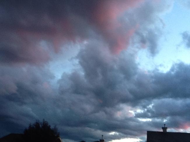 Pink Clouds war Stony Plain, Alberta Canada