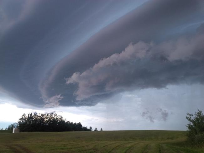 Odd Clouds Two Hills, Alberta Canada