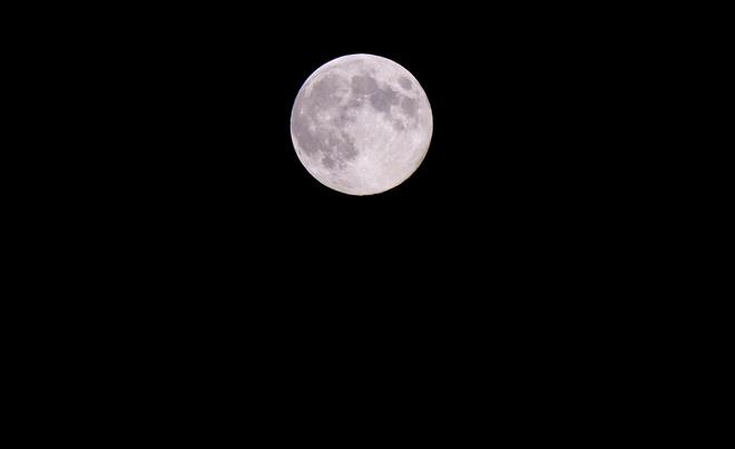 "Full ""Blue Moon"" over Elliot Lake. Elliot Lake, Ontario Canada"