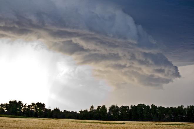Ominous clouds Stettler, Alberta Canada