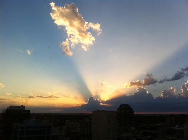 over the clouds Winnipeg, Manitoba Canada