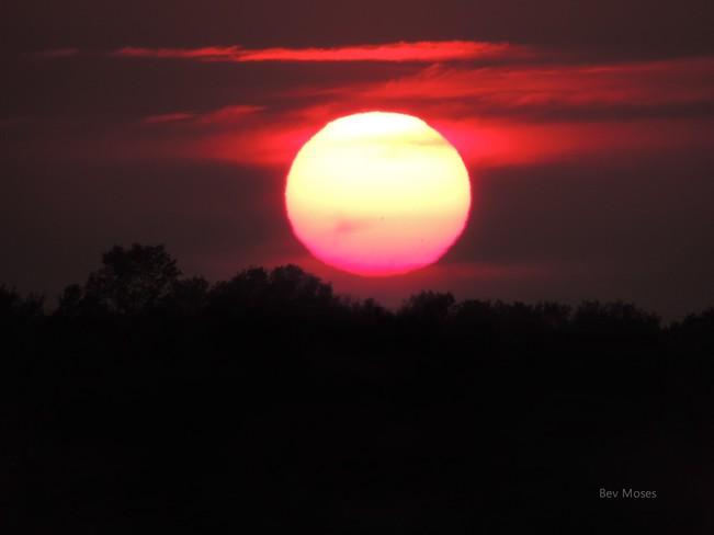 Stunning sunset Pembroke, Ontario Canada