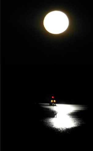 Lake Superior Moonlit Lighthouse