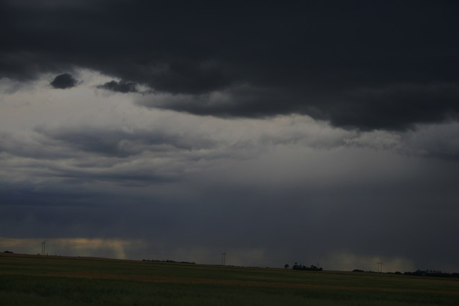 raining to the west. Unity, Saskatchewan Canada