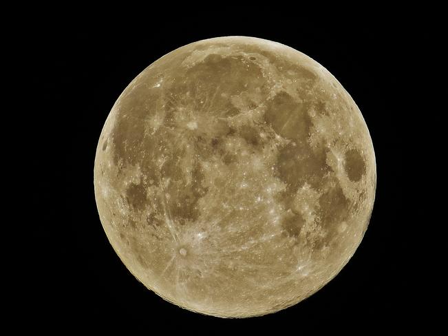 Beautiful full moon over North Bay. North Bay, Ontario Canada