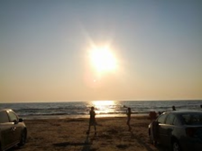 Evening time sun Sauble Beach, Ontario Canada