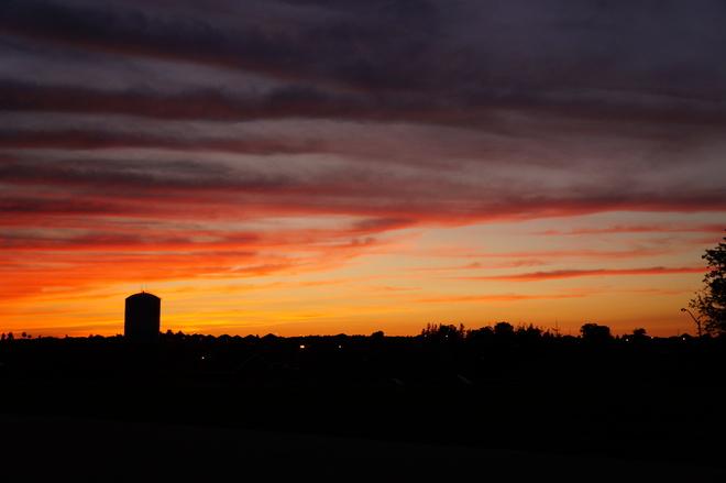 Sunset overlooking Bradford Bradford, Ontario Canada
