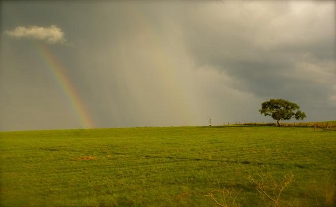 Rainbow and cloud Shubenacadie, Nova Scotia Canada