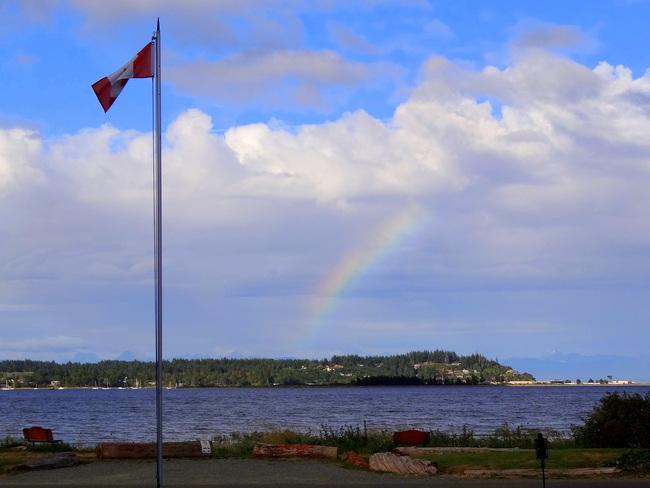 Magical rainbow Royston, British Columbia Canada