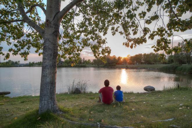 sunset Winnipeg, Manitoba Canada