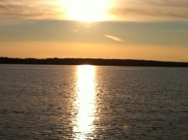 Sunset on the Ottawa river Arnprior, Ontario Canada