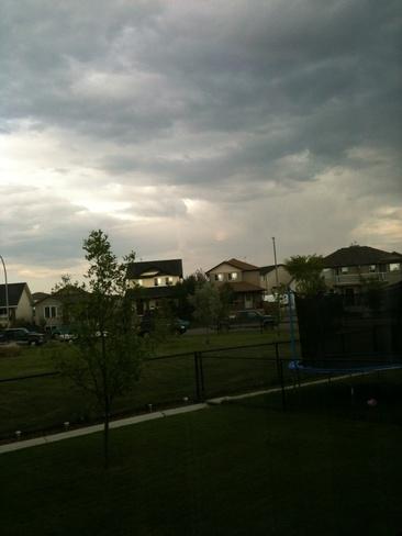 Dark Clouds and it rained High River, Alberta Canada