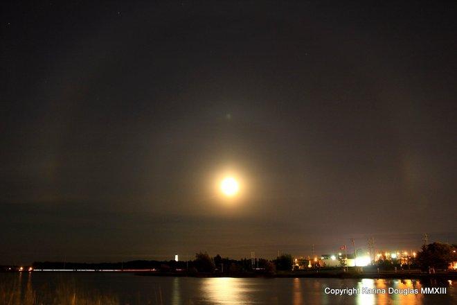 Moon Dog Over Gillies Lake Timmins, Ontario Canada