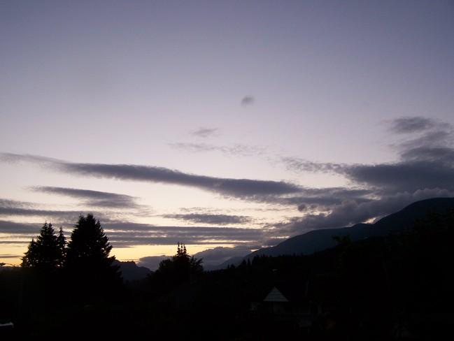 Eastern sky Lake Cowichan, British Columbia Canada