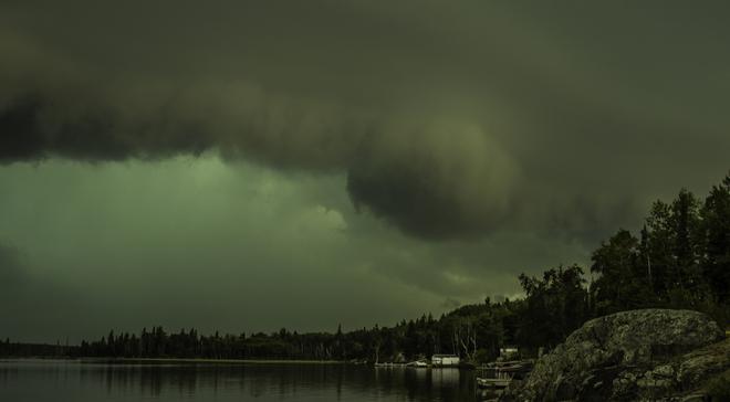 Swirling Storm Clouds Bissett, Manitoba Canada