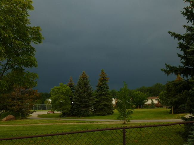 Storm comes rolling in Waterloo, Ontario Canada