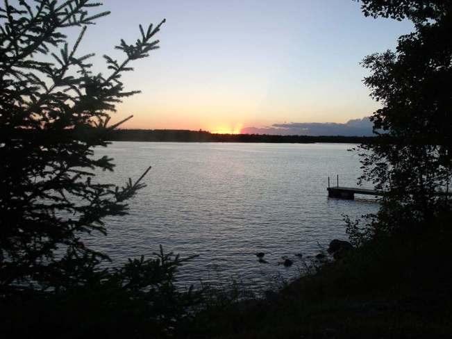 Sunset Eleanor Lake Selkirk, Manitoba Canada