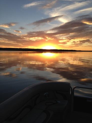 Spectacular Sunset Sturgeon Lake 154, Alberta Canada