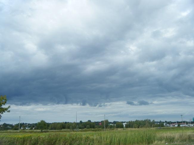 dark clouds Moncton, New Brunswick Canada