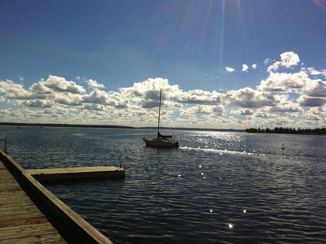 Beautiful day Wabamun, Alberta Canada