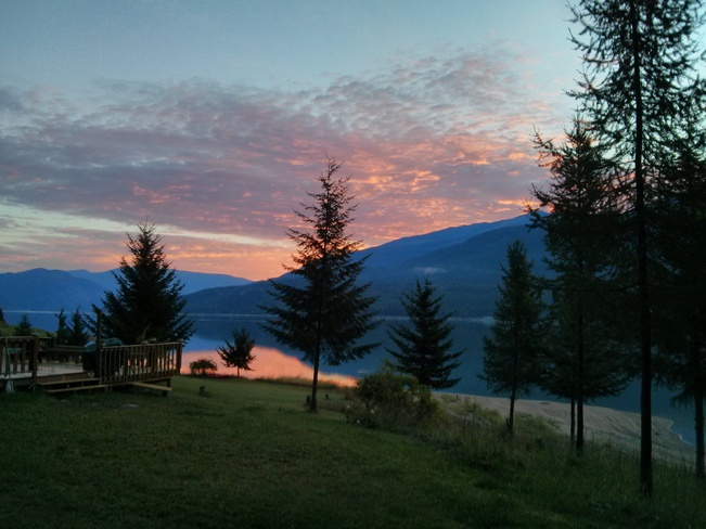 Sunrise over Lower Arrow Lake Edgewood, British Columbia Canada