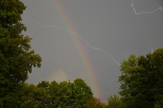 Rainbow Lightning Hudson, Quebec Canada