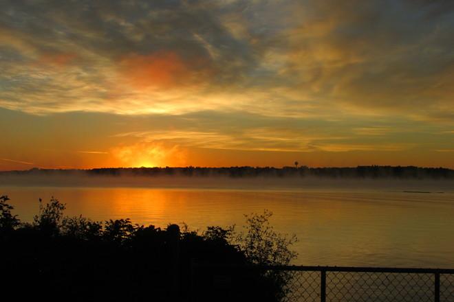 Sunrise Over Blockhouse Island Brockville, Ontario Canada
