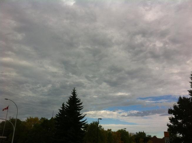 storm clouds rolling in Edmonton, Alberta Canada