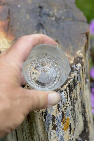 An empty glass... Brooks, Alberta Canada