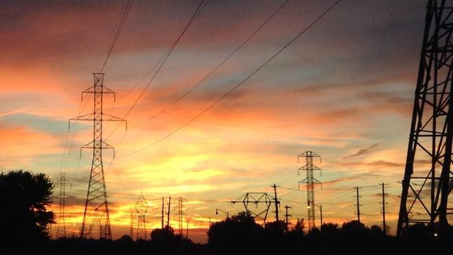 electric sunset Tecumseh, Ontario Canada
