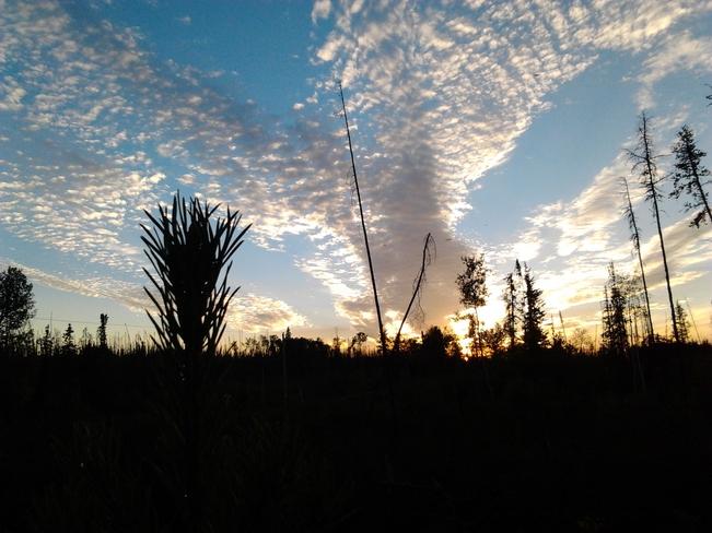 Sun Down La Ronge, Saskatchewan Canada