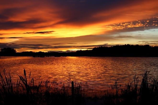 Summer Sunset Wetaskiwin County No. 10, Alberta Canada