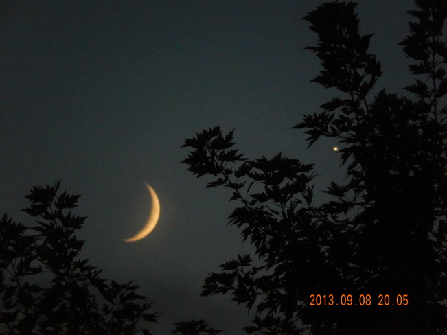 Venus and the Moon Mississauga, Ontario Canada