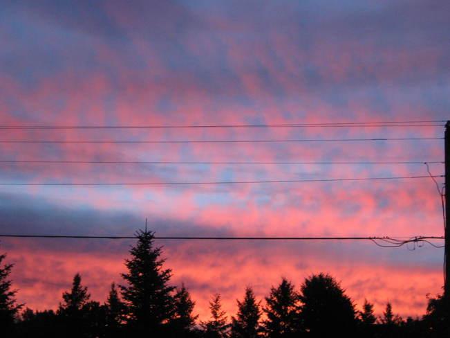 Pretty Pink Sky Markstay, Ontario Canada