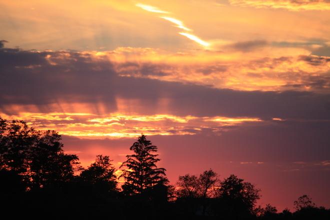 Beautiful sunset Clifford, Ontario Canada