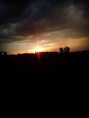 Stormy Sunset Portage La Prairie, Manitoba Canada