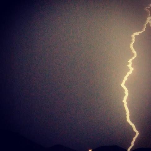 lightning strike Cambridge, Ontario Canada