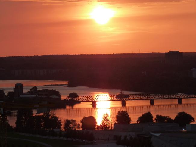 Sunset over Ottawa River Ottawa, Ontario Canada