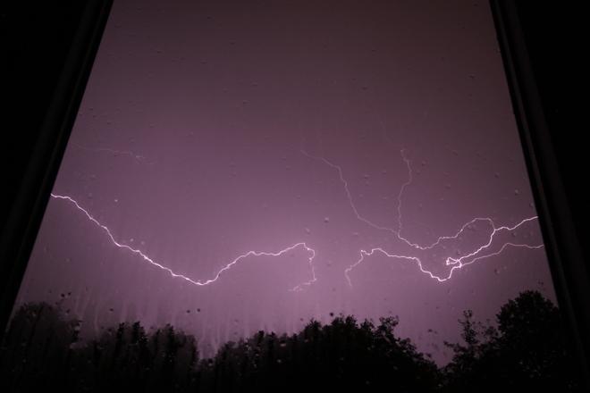 Lightning - Over the Bog London, Ontario Canada