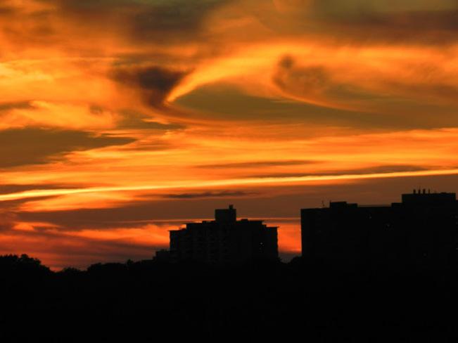 Sunset afterglow. Toronto, Ontario Canada