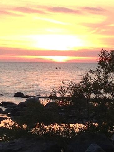 Georgian Bay sunset Balm Beach, Ontario Canada