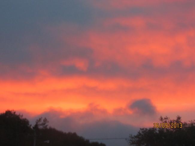 sun rise Joggins, Nova Scotia Canada