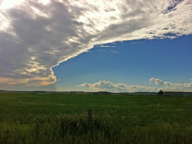 Cloud formation Black Diamond, Alberta Canada