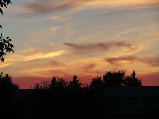 8pm sky Edmonton, Alberta Canada