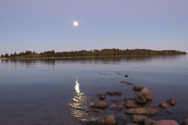 Full Harvest Moon Chester, Nova Scotia Canada