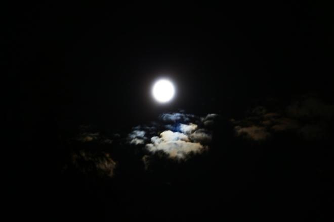 Night Moon Surrey, British Columbia Canada