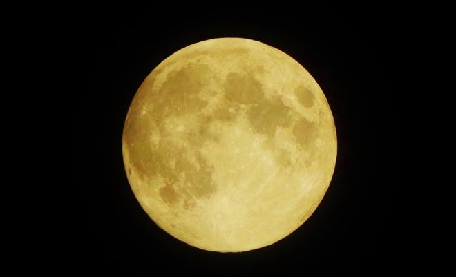 A Golden Harvest Moon Kelowna, British Columbia Canada