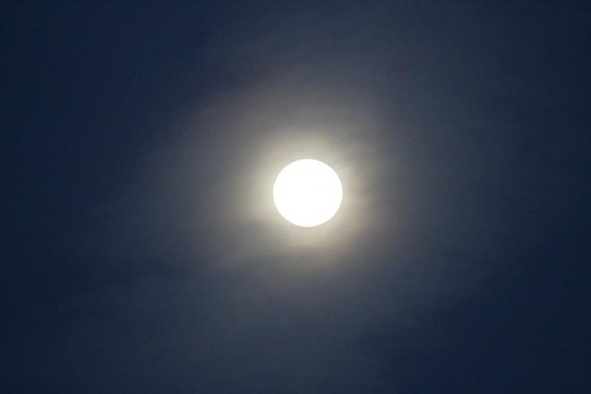 Full Moon at Sunrise Wolfville, Nova Scotia Canada