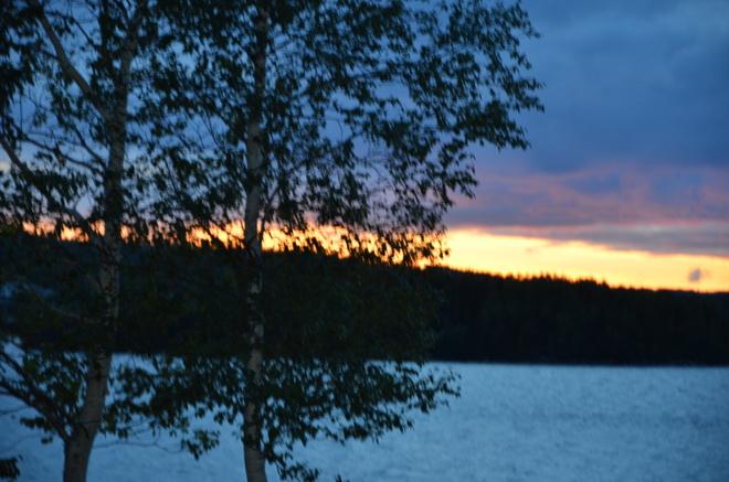 beautiful sunset on the patio Lewisporte, Newfoundland and Labrador Canada
