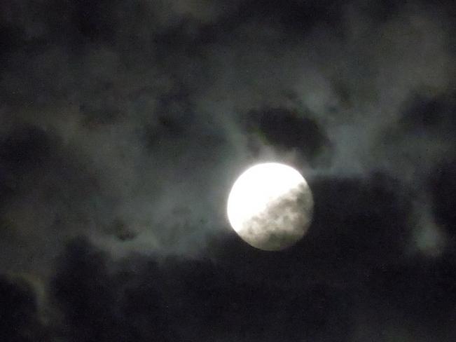 Stormy moon Wasaga Beach, Ontario Canada